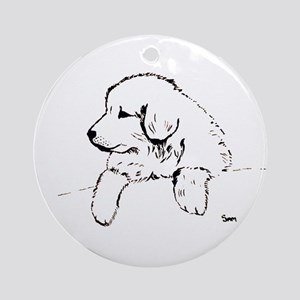 Great Pyrenees puppy Ornament (Round)
